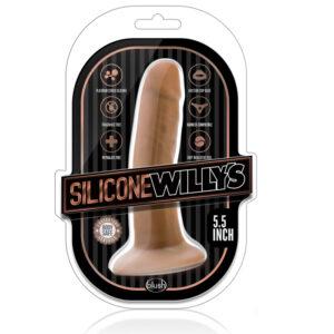Silikone Willys – dildo med sugekop – 14-15 cm