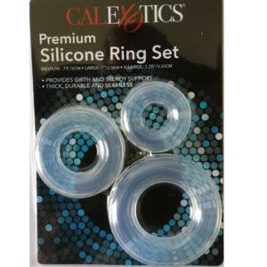 Silikonesæt med 3 Penisringe